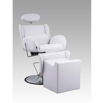 White Salon Barber Chair For Barber Shop Heavy Duty Barber Chair