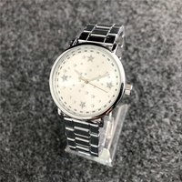 2019 New style diamonds strap stainless steel belt wristwatch popular luxury lady quartz star watch