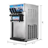 Soft Ice Cream Machine 3-Flavor Frozen Ice Cream Yogurt Maker With 18L/H Lcd Display Hot Sale