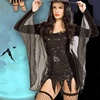 Factory Direct Sale Good Quality Female Sexy Sequined Bat Witch Costumes