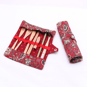 Cheap price new style bamboo cutlery travel set