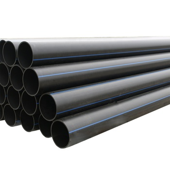 "Pipe HDPE 12"" SDR 9 315 mm PE 100 HDPE Pipe Black Plastic Water Pipes"
