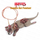 party decorations horror bloody zombie rat body pendant ornament for halloween costume