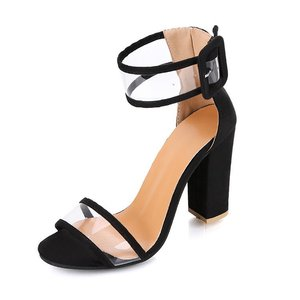 Woman Sandal Comfortable Transparent PVC upper peep toe Women Clean material Lady Sandals