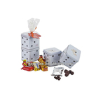 New design wedding gift packing square candy tin box