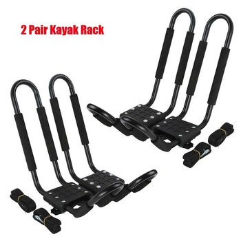 2019 HOT SALE - 2 Pairs Universal Roof J-Bar Rack Kayak Boat Canoe Car SUV Top Mount Carrier