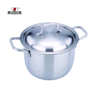 Wholesale High Quality Stainless Steel Straight Pot Soup & Induction Stock Pots casserole For Cooking 20cm
