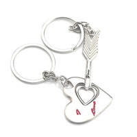 CUSTOM Letter Couple Key Chain Love Metal Keychain Cartoon Key chain Lovers Key ring Women Wedding Jewelry Accessories
