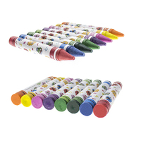 Vibrant colors wax material fabric medium children use washable painting crayon