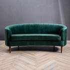 Living Room Furniture Dark Wholesale Accent Wooden Feet Dark Green Velvet Sofa from Guandong Furniture