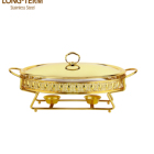 L4715A Gold color Chafing dishes set stainless steel catering serving chafing dish buffet serving food warmers