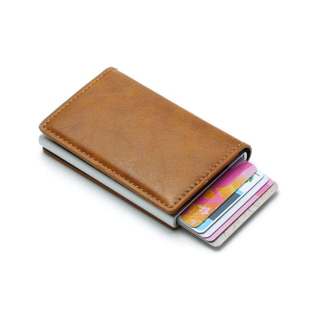Leather Money Clip Automatic Pop-up Card Case <strong>Wallet</strong> | Slim RFID Blocking <strong>Wallet</strong> | Front Pocket Card <strong>Wallet</strong>