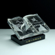 custom laser engraving crystal glass book trophy for Islamic Wedding souvenir gift