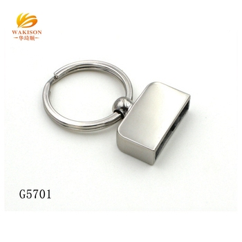 Factory produce fashion keychain accessories key ring sample free