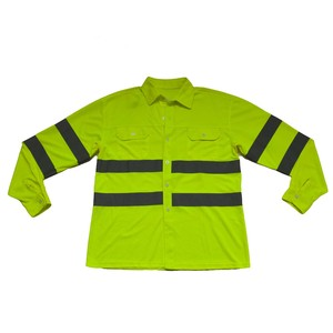 Reflective Safety Polo Long Sleeve Shirt Hi-Vis Shirt