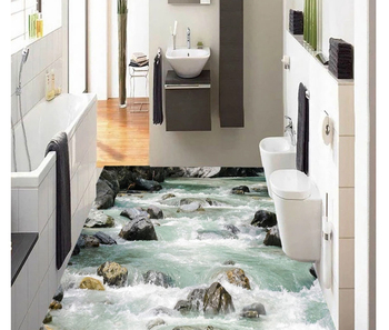 Bach Fluss Wasser Stein Bad 3d Boden Design Abnehmbare Boden Aufkleber Für  Wc Fliesen - Buy Hause Boden Aufkleber,Badezimmer Bodenfliese ...