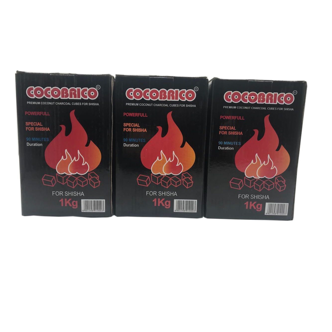 HQHC0022 HongQiang Free Samples Cocobrico Cubes Coconut Shell Hookah Charcoal for Shisha