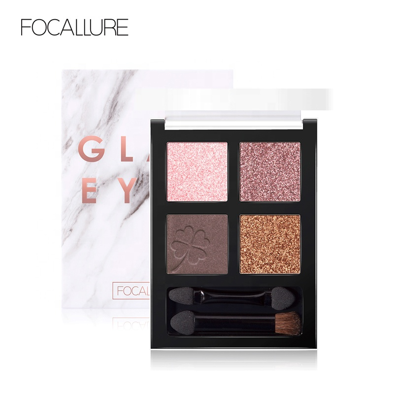 Focallure All'ingrosso Nuovi Prodotti 2019 di Colore Romantico 3d Shimmer Eye Shadow Impermeabile Eyeshadow Palette Pan