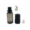 wholesale cosmetic packaging empty Transparent Black 10ml plastic pet dropper e liquid bottle