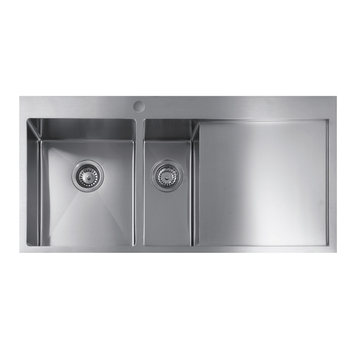 Australia Professional Double Bowl One Piece Kitchen Sink and Countertop