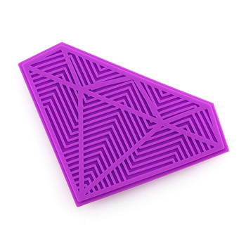 hot selling private label Purple diamond silicone makeup brush cleaner pad Can be customized