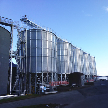 Good quality hot sale 100ton hopper bottom steel silo for storage grain