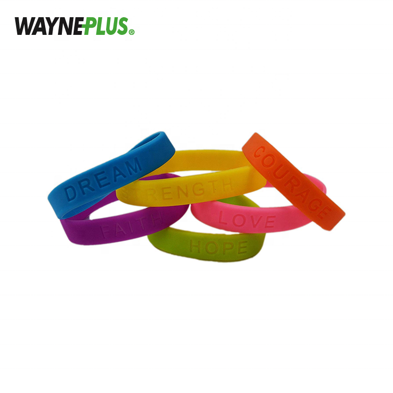 New Customized High Quality Lime Green Silicone Bracelet