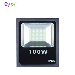 Powerful solar led flood light with outdoor rechargeable 100w professional manufacture