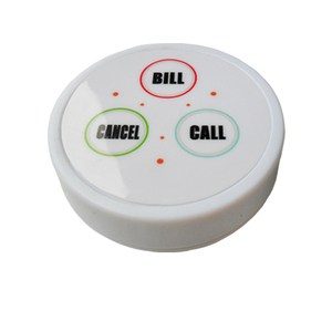 Restaurant Wireless Ordering System with display receiver transmiitter button CE Approved 433.92 mhz
