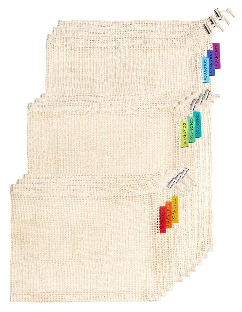 Reusable Cotton Mesh Produce Bag <strong>Eco</strong> Friendly