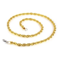 Dubai fashion new gold chain design jewelry,stainless steel lock neckl men 6mm stainless steel 20K gold plated fashion necklace