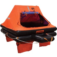 Solas โยน over board inflatable life raft