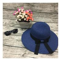 Fashion Bowknot Ribbon Beach Sunhat Outdoor Holiday Vocation Anti-Uv Straw Hat Straw Hat Lifeguard For Women