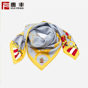 Digital Print High Quality Square Scarf Silk ,Silk Scarf Colorful Oem