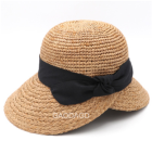 Custom Wholesale Lady Raffia floppy Straw Hat Summer Beach Hats For Women