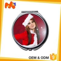 Personalized Aluminum Double Sides Cosmetic Round Pocket Mirror