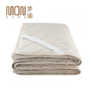 High quality home luxury cotton polyester sleep well thin sleeping mattress pad