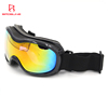 Premium uv 400 protective ski glasses anti fog snowboard goggles with polarized Mirrored lens long elastic strap