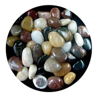 Cheap mix color garden polished decorating pebble stones