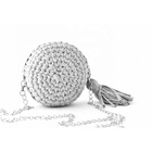 Roundness Handmade Shoulder Bags Women Crochet Slant Straddle Bag