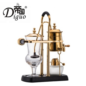 Commercial Household Luxury Royal Vacuum Cafetera Gold Color Belgium Balancing Siphon Coffee Maker