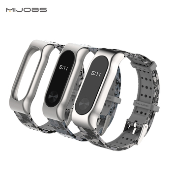 Mijobs  Mi Band 2 Wristband Accessories rubber sports smart watch bands straps for miband