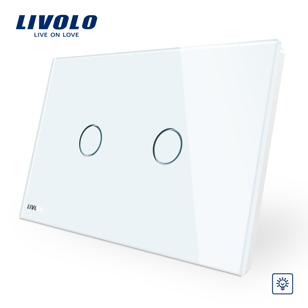 Twin gang 1way universal wall dimmer สำหรับไฟ led สวิทช์