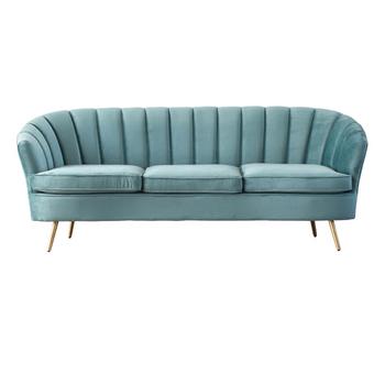 Modern Sky Blue Velvet Sleeper Couch Sofas Mid Century Stainless Steel Living Room Sofa Set Buy Velvet Sofa Set Sofa Set For Living Room Living Room