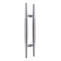 frameless sliding main pull handles for exterior glass door