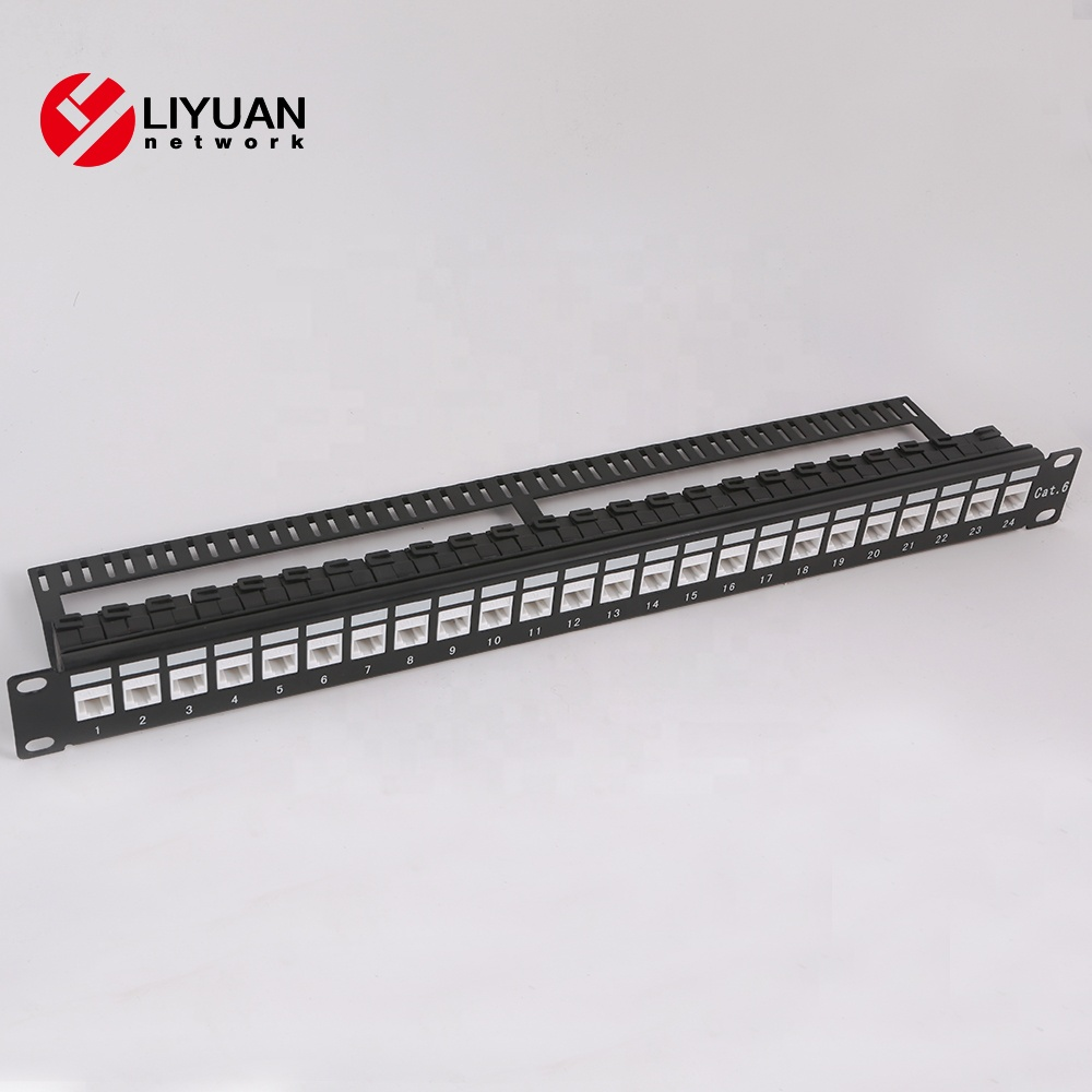 LY-PP5-23+KJ6A-02 port Cat5e/Cat6 UTP Keystone Jacks Blank Patch Panel Brackets,cabinets Panel