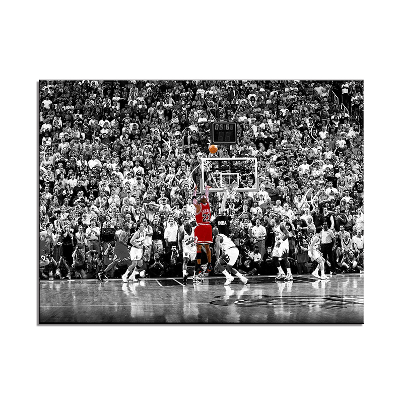 Abstract Art Painting Michael Jordan Poster Fly Dunk Basketball Wall <strong>Pictures</strong> for Living Room Decoration Bedroom Sport Canvas