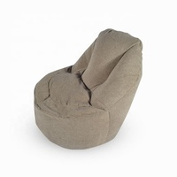 Light Grey Soft Pashmina Furniture Chair Living Room Bean Bag