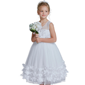 new style fancy wedding kids bridal dresses