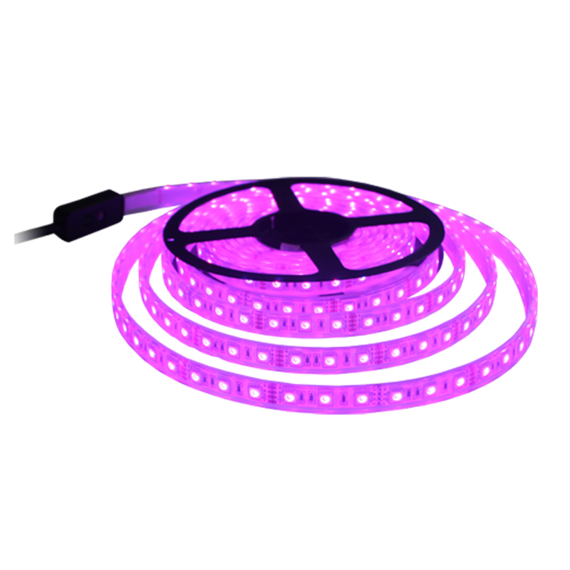 IP68 waterproof SMD5050 DC12V <strong>RGB</strong> multi color 5M per roll pool ip68 led Strip light